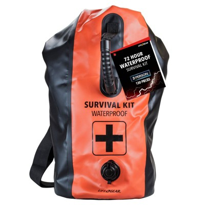 Life+Gear 2 Person 72hr Waterproof Dry Bag First Aid + Survival kit
