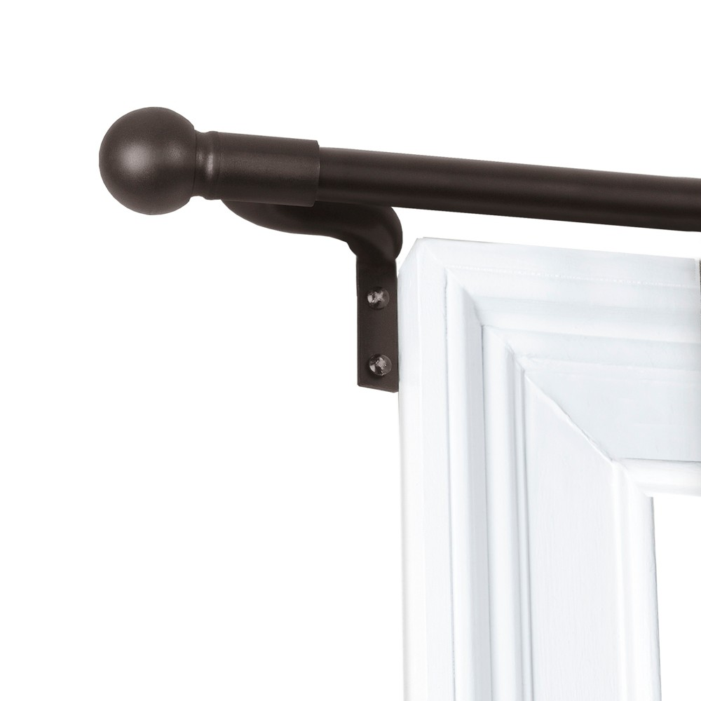 "Image of ""18""""x48"""" Easy Install Café Window Rod Bronze - Smart Rods"""