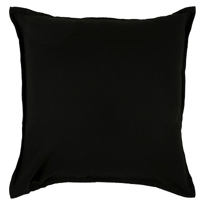 "20""x20"" Oversize Solid Square Throw Pillow Black - Rizzy Home"