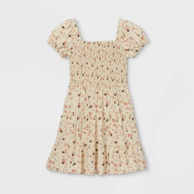 Girls' Smocked Short Sleeve Dress - art class™