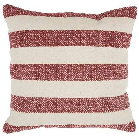 Life Styles Printed Stripes Oversize Square Throw Pillow Red Mina Victory Target