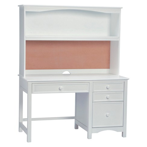 Wakefield Pedestal Desk With Hutch Set White - Bolton Furniture - image 1 of 1