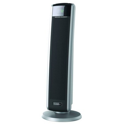 Lasko 5586 Portable Electric 1500 Watt Room Oscillating Ceramic Tower Space Heater with Remote, Adjustable Thermostat, Digital Controls, and Timer