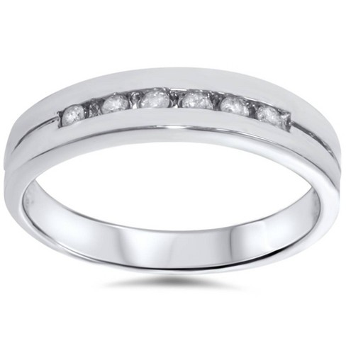 Pompeii3 1/4ct Diamond Wedding White Gold Stackable Guard Ring - image 1 of 4