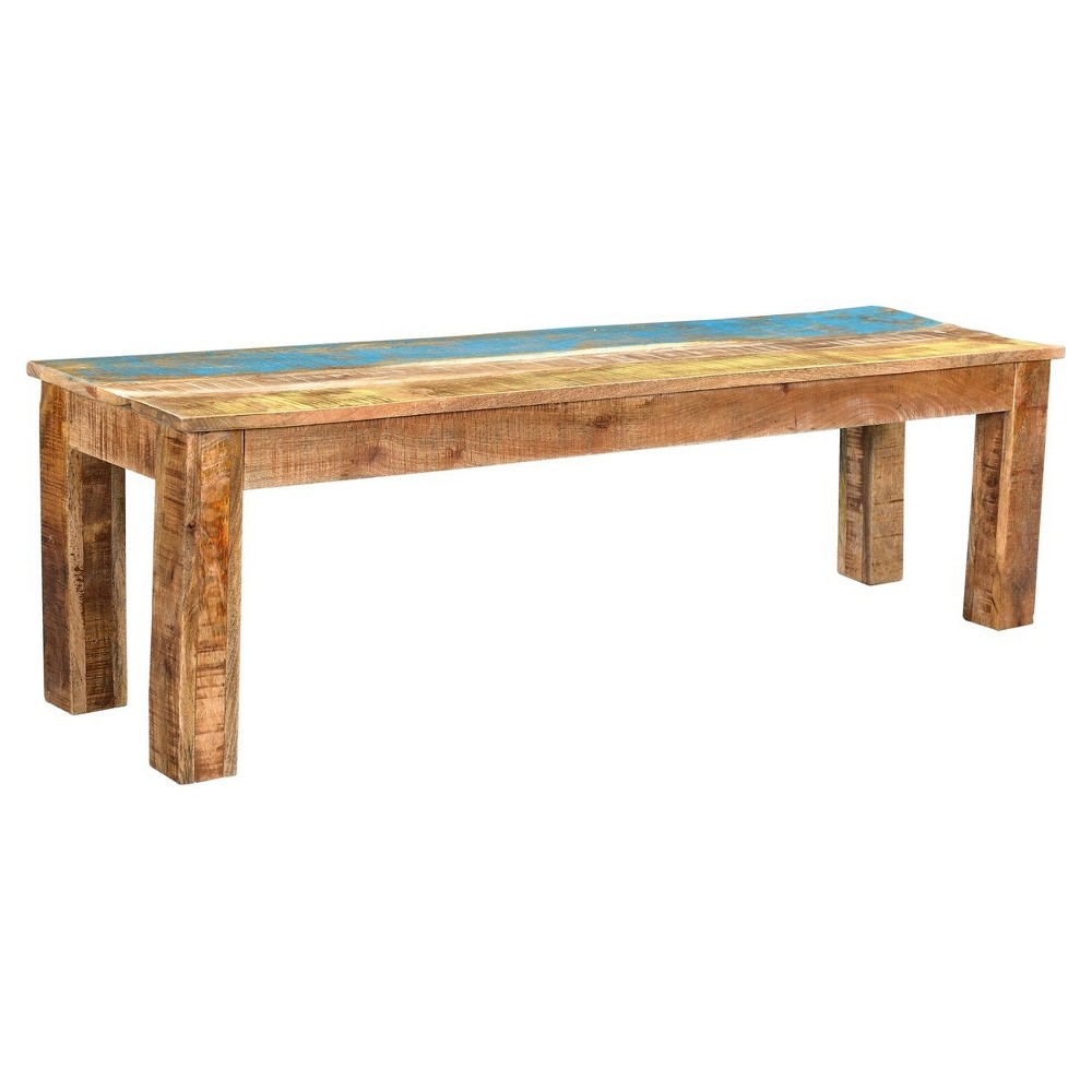 Suman Rustic 60 Bench - Timbergirl, Multicolored