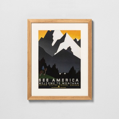 12  x 15  See America Framed Wall Art - Hearth & Hand™ with Magnolia