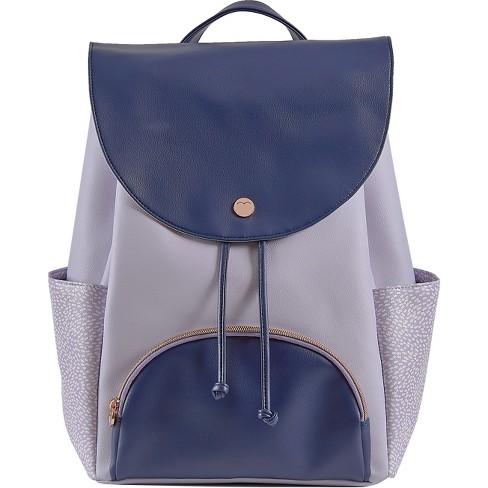 """Designlovefest 17"""" Backpack - Lavender/Navy - image 1 of 4"""