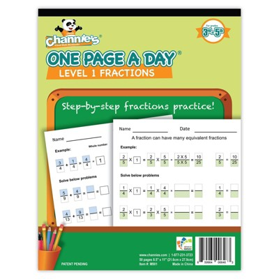 Channie's One Page A Day Beginning Fractions