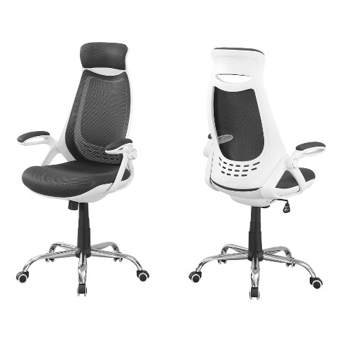Office Chair - Gray Mesh & Chrome - EveryRoom - image 1 of 2