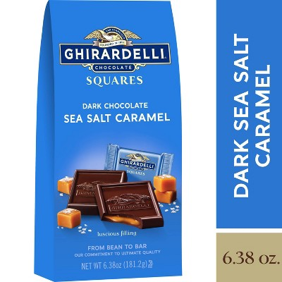 Ghirardelli Dark Sea Salt Caramel Chocolate Squares - 6.38oz