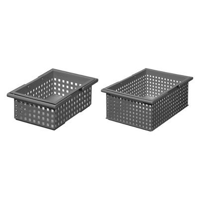Like-It Universal Stacking Bathroom Storage Organizer Basket Set, Mint Blue