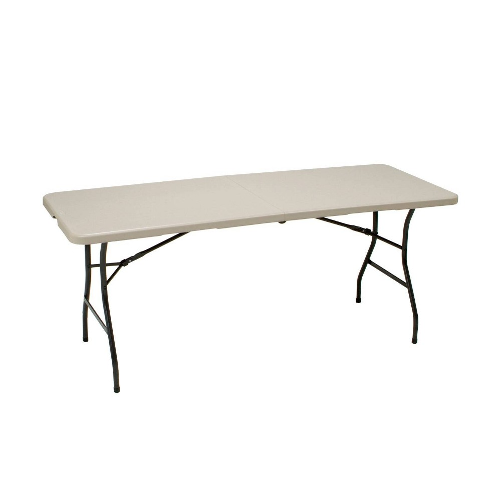 Image of 6' Utility Fold In Half Table Cream - Meco, Beige