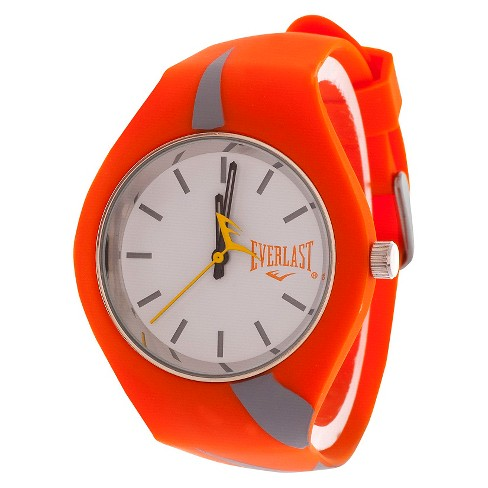 Everlast® Soft Touch Rubber Strap and Case Watch - Orange - image 1 of 1
