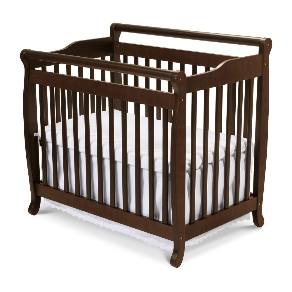 Image of DaVinci Emily 2-in-1 Mini Crib and Twin Bed - Espresso, Brown