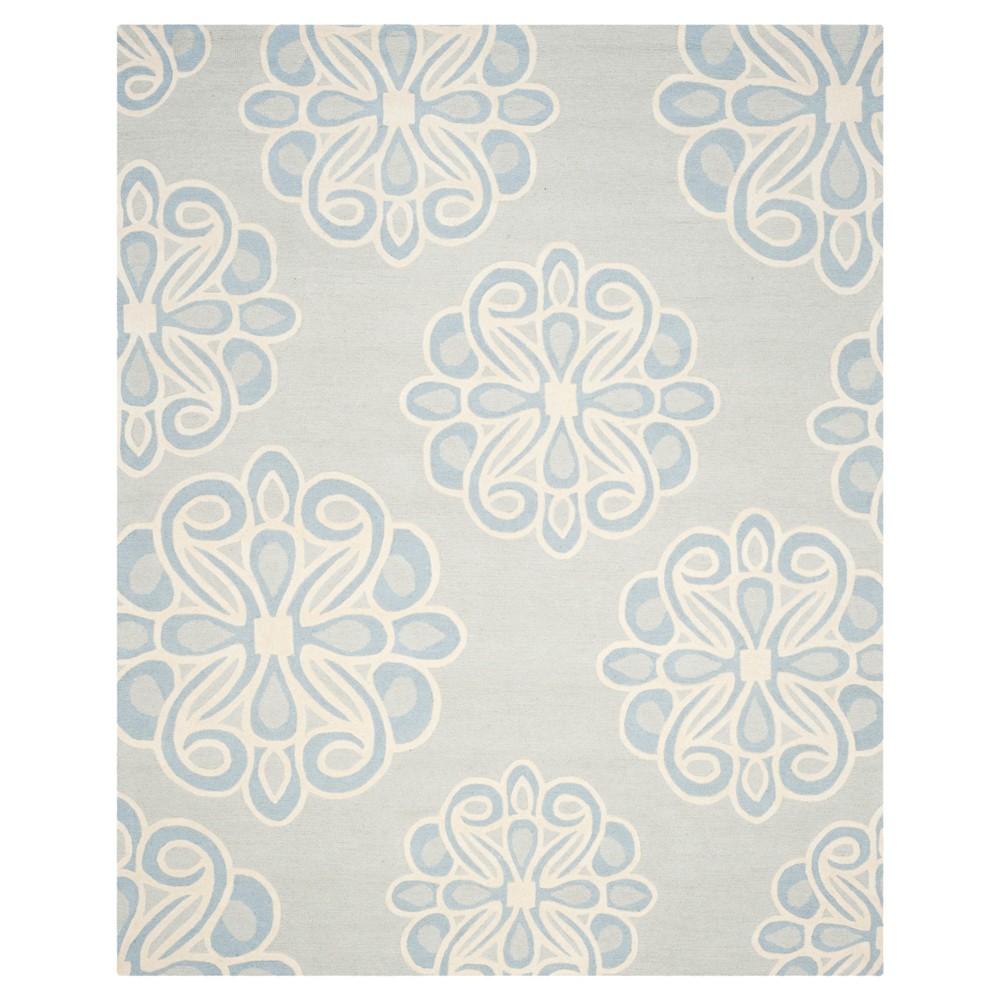 8'X10' Floral Area Rug Gray - Safavieh