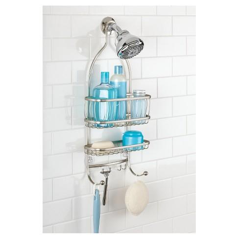 York Lyra Shower Caddy Satin Silver - InterDesign : Target