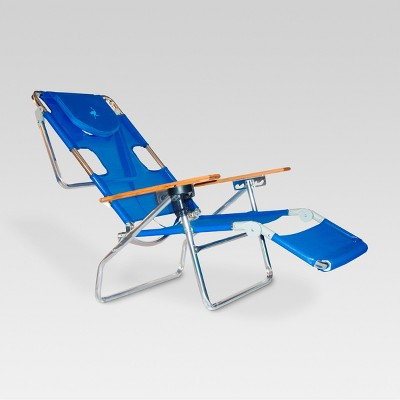 Ostrich Face Down 3 In 1 Beach Chair Blue - Deltess