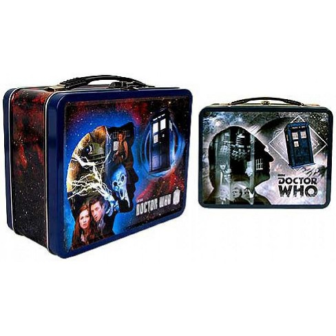Doctor Who 50th Anniversary Tin Tote Gift Set Figure Set - image 1 of 2