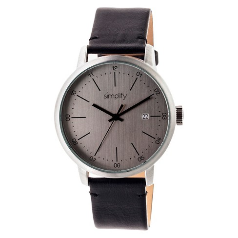 Simplify The 2500 Men's Leather Strap Watch - image 1 of 3