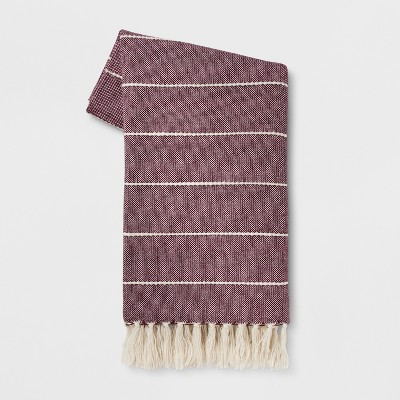 60 x50  Woven Stripe Throw Blanket Purple - Opalhouse™