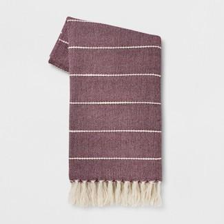 60u0022x50u0022 Woven Stripe Throw Blanket Purple - Opalhouse™