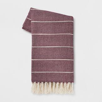 "60""x50"" Woven Stripe Throw Blanket Purple - Opalhouse™"