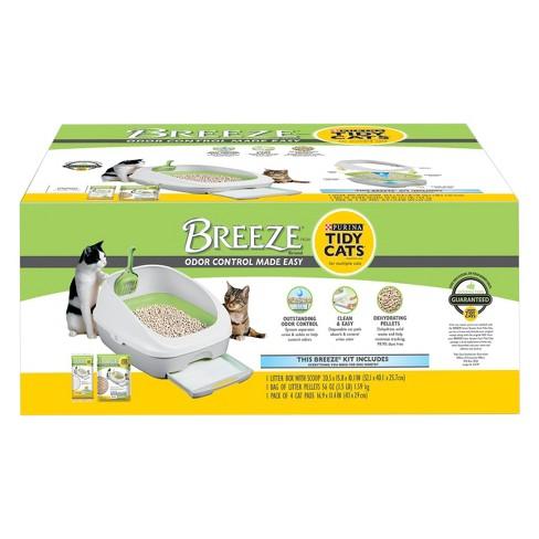 Purina Tidy Cats Litter Box System BREEZE System Starter Kit Litter Box Litter Pellets & Pads - image 1 of 4