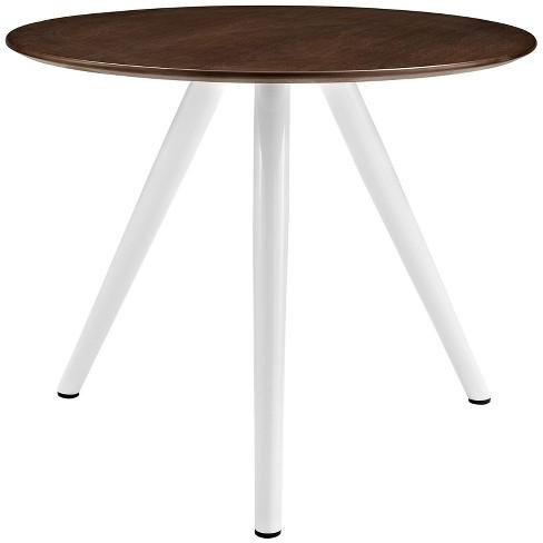 "Lippa 36"" Round Walnut Dining Table with Tripod Base Walnut - Modway - image 1 of 4"