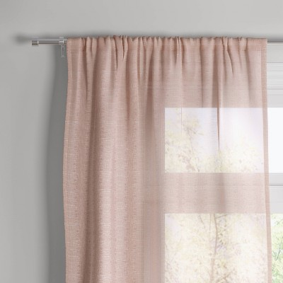"""84""""x54"""" Richter Clipped Sheer Window Curtain Panel Blush - Project 62™"""