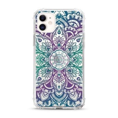 OTM Essentials Apple iPhone 11 Clear Case - Mandala Heart Green Purple