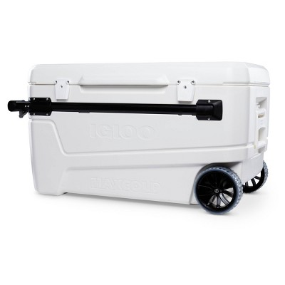 Igloo Glide Pro Hard Sided 110qt Portable Cooler - White