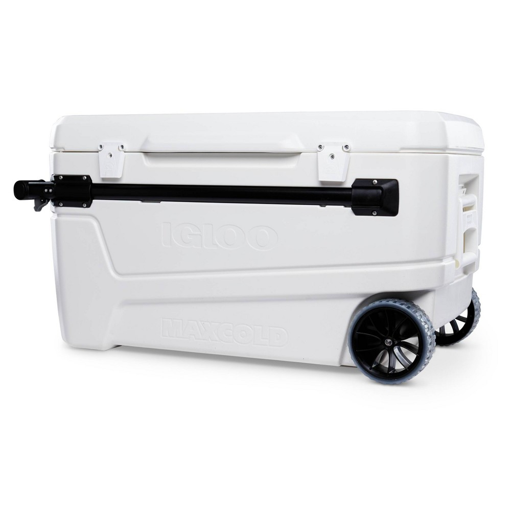 Top Igloo Glide Pro Hard Sided 110qt Portable Cooler - White