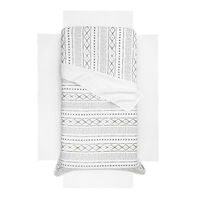 South Shore Dreamit Muslin Baby Bedding Set - White and Gray - 3pc