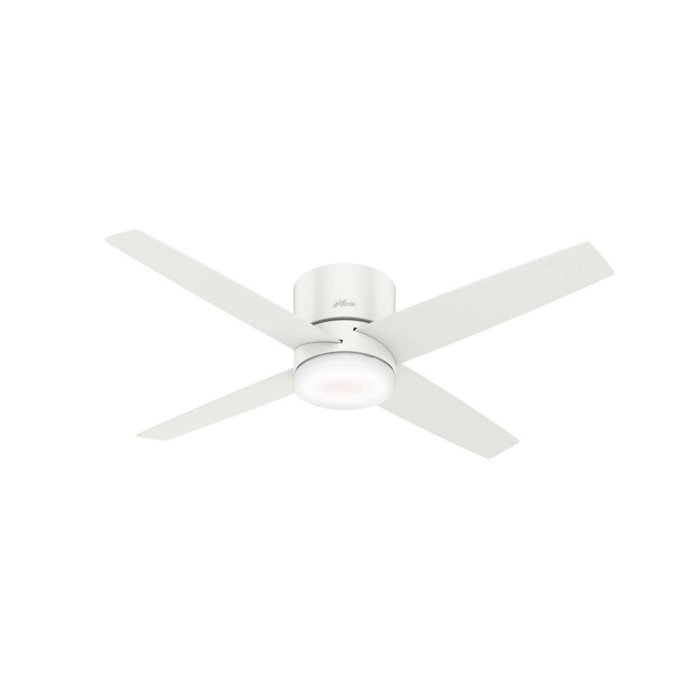 "Image of ""54"""" LED Advocate Low Profile Wifi Ceiling Fan with Light Fresh White - Hunter Fan"""