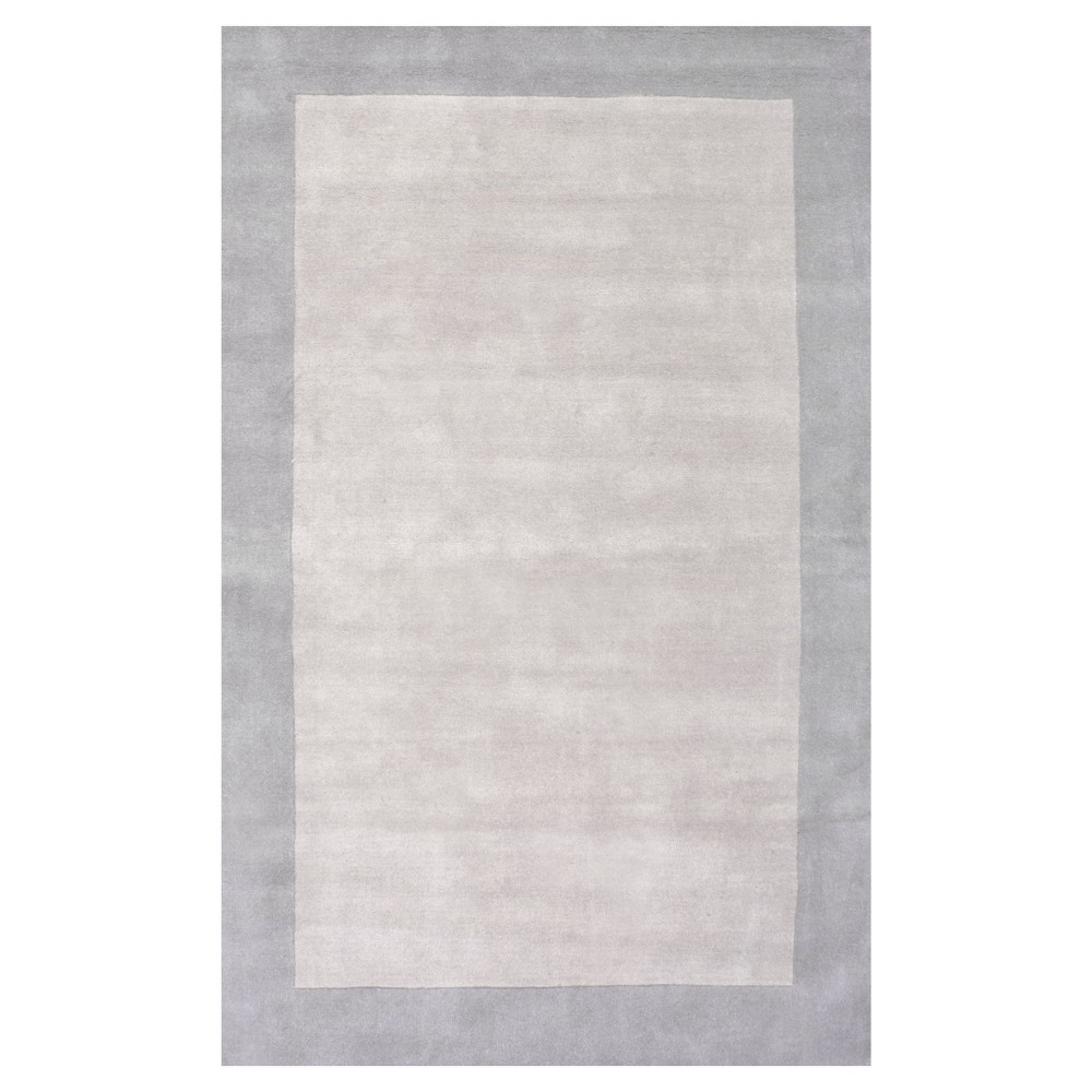 5'x8' Solid Tufted Area Rug Gray - nuLOOM