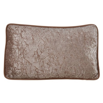 """12""""x20"""" Crushed Velvet Pillow Cover Champagne - SARO Lifestyle"""