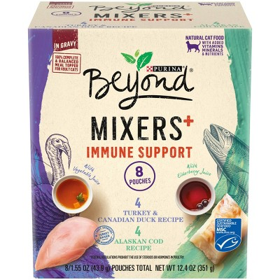Purina Beyond Mixers Immune Support Poultry & Fish In Gravy Wet Cat Food - 1.55oz/8ct
