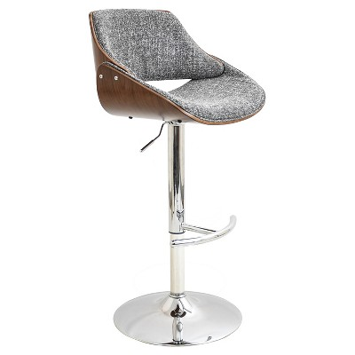Fabrizi Mid-Century Modern Adjustable Barstool - LumiSource
