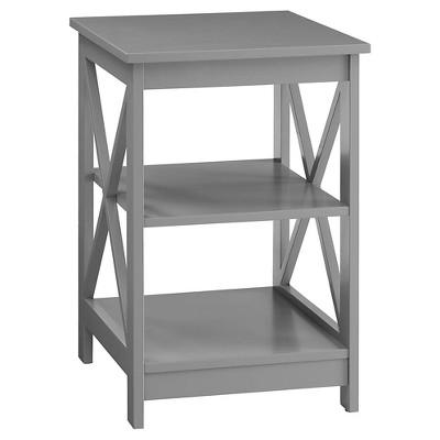 Oxford End Table Gray Medium Convenience Concepts