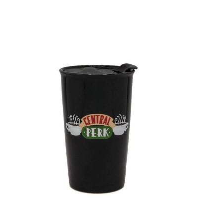 Friends 10oz Ceramic Central Perk Travel Mug - Silver Buffalo