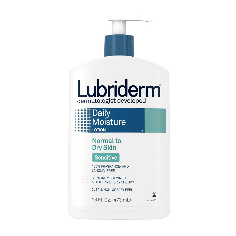 Image of Unscented Lubriderm Daily Moisture Body Lotion for Sensitive Skin - 16 fl oz
