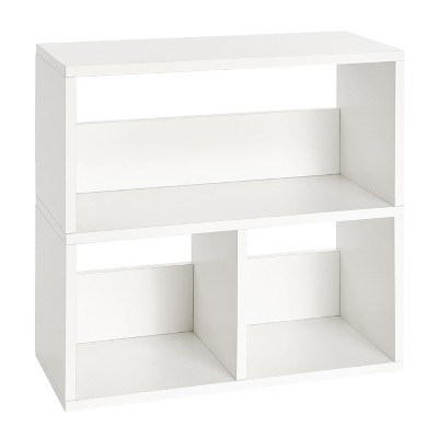 Way Basics Eco Friendly Collins Cubby Bookshelf and Storage Organizer - White - Lifetime Guarantee