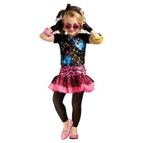 Girls' 80's Pop Party Toddler Costume 3-4t - image 1 of 1