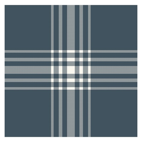 Sample Square Wallpaper Navy/Cream Plaid - Hearth & Hand™ with Magnolia - image 1 of 1