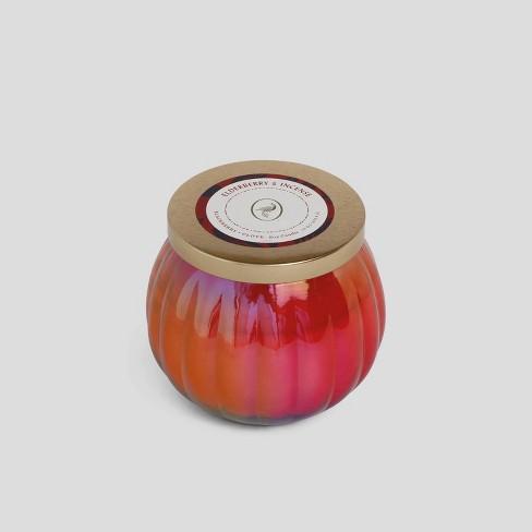 14oz Lidded Iridescent Glass Jar Candle Elderberry & Incense - Opalhouse™ - image 1 of 3