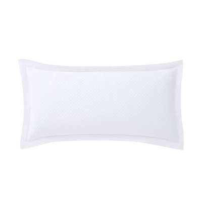 16x32 Essex Quilted Throw Pillow White - Charisma