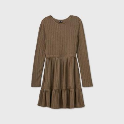 Girls' Pointelle Tiered Dress - art class™