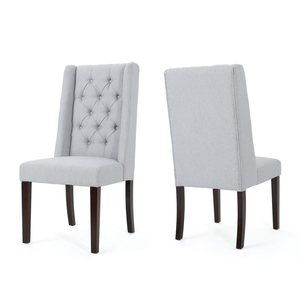 Set of 2 Blythe Tufted Dining Chairs Light Gray - Christopher Knight Home was $296.99 now $193.04 (35.0% off)