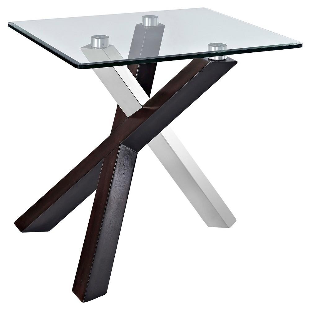 Verge End Table Rectangular Dark Espresso - Magnussen Home, Black Espresso