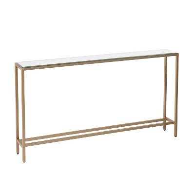 Dillard Narrow Long Console Table Deep Gold - Aiden Lane